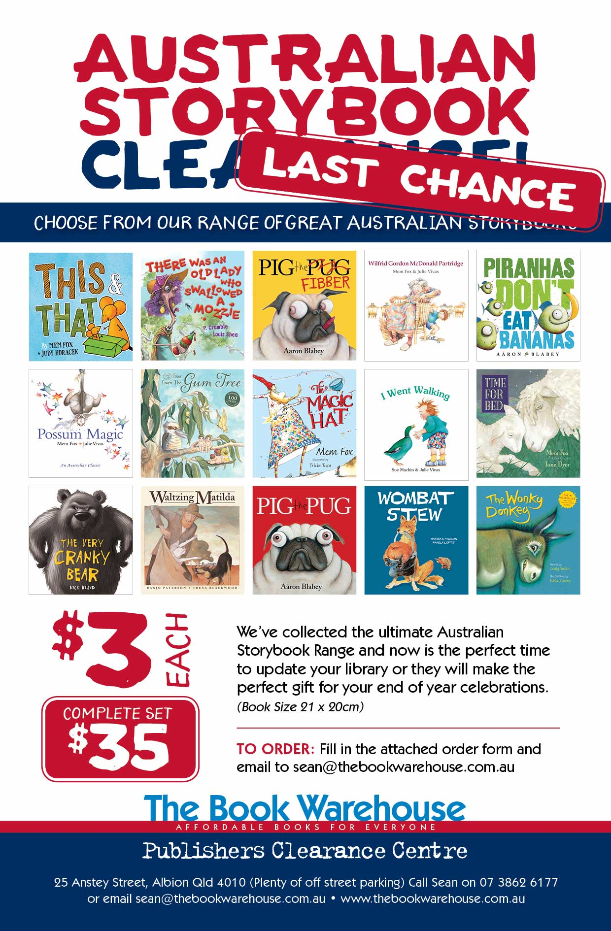 2018 School Book Clearance